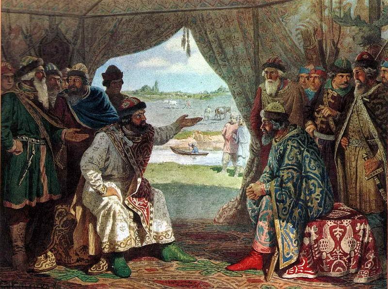свидание князя Владимира Мономаха с князем Святополком