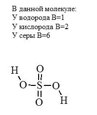валентность молекулы серной кислоты