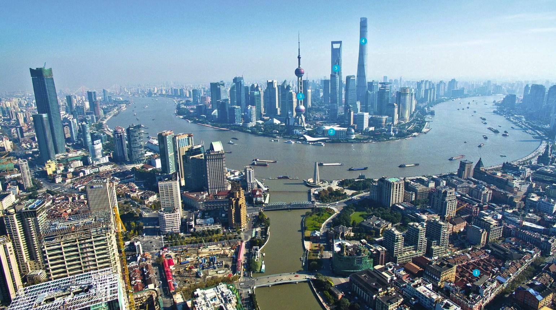 Шанхай вид сверху