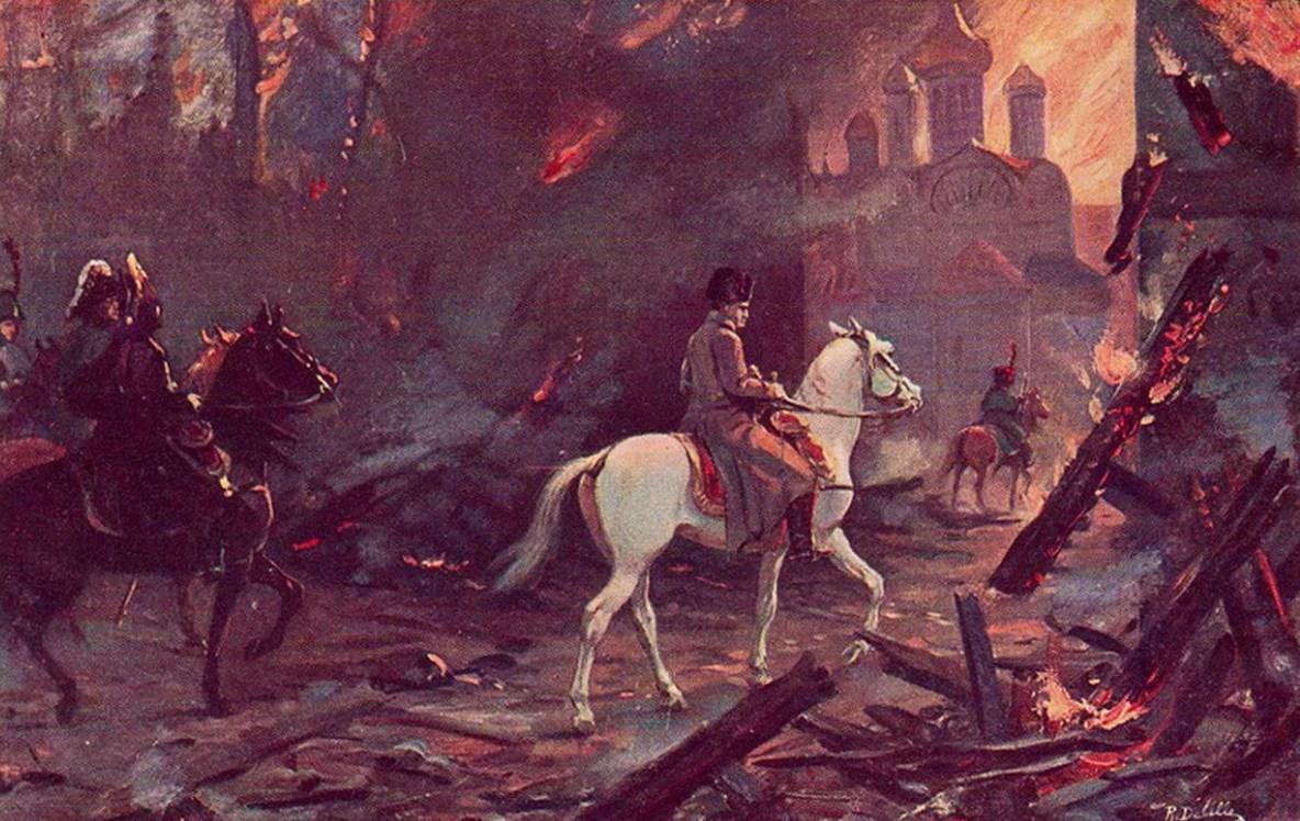 Наполеон едет по Москве