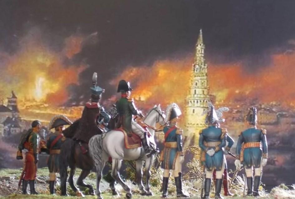 Наполеон и сожженная Москва