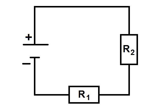Участок цепи с двумя резисторами