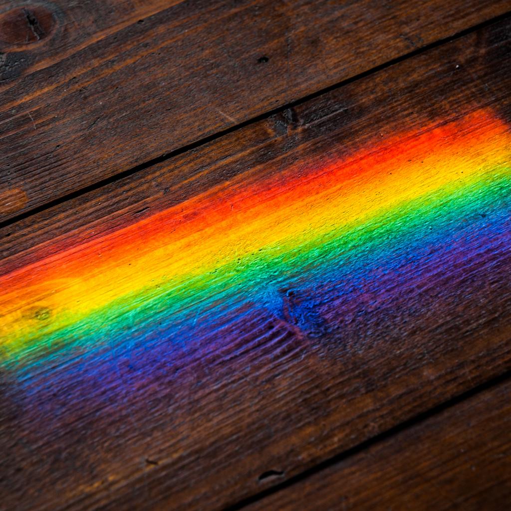 спектр света на полу