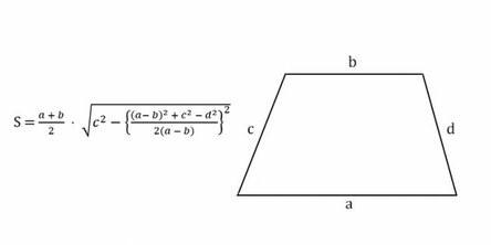 формула площади трапеции зная все стороны