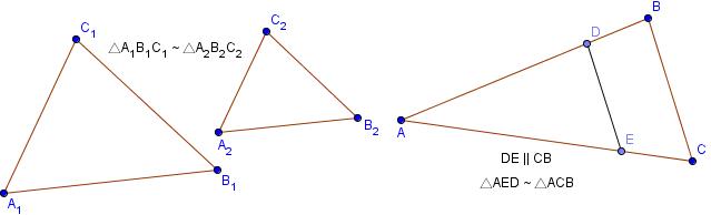 соотношение площадей подобных треугольников