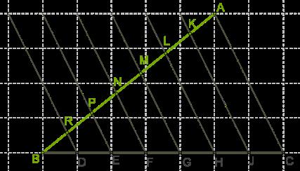 схема деления на равные части