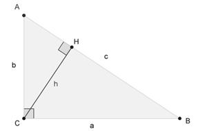 треугольник с прямым углом С
