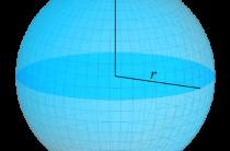 Шар и сфера, объем шара, площадь сферы, формулы